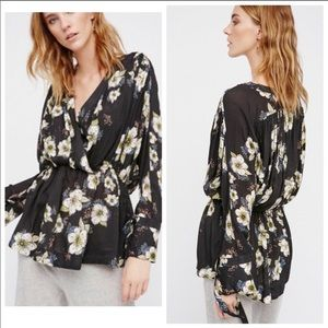 Free People Tuscan Dreams Floral Print Tunic Top